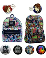 Star Wars Han Solo Princess Leia Backpack Giftset w/ Disney Pins & 4 Buttons