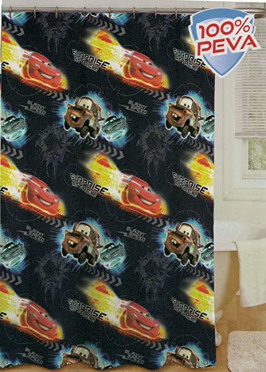 70 X 72 70 X 72 Jay Franco /& Sons Inc. Disney Cars Peva Shower Curtain