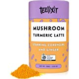 Teelixir Mushroom Turmeric Latte (100 g) Certified Organic Golden Milk Powder with Cordyceps Superfood Mushroom Extract, Curcumin and Ginger - Vegan, Paleo, Gluten Free, Unsweetened, Non GMO - Anti inflammatory & Natural Energy Boost - 33 servings