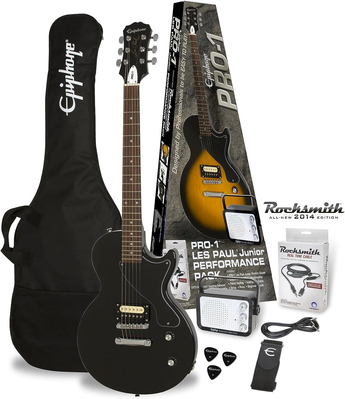 Packs guitarra Epiphone PRO-1 les paul Junior Ebony Pack ...