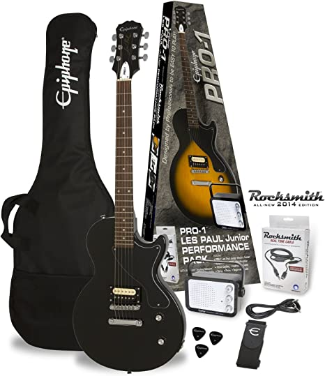 Packs guitarra Epiphone PRO-1 les paul Junior Ebony Pack ...