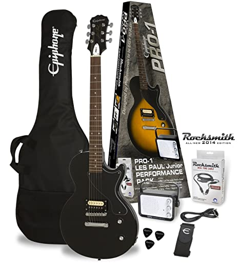Packs guitarra Epiphone PRO-1 les paul Junior Ebony Pack (Rocksmith) Packs guitarra