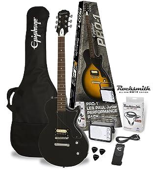 Packs guitarra Epiphone PRO-1 les paul Junior Ebony Pack (Rocksmith ...