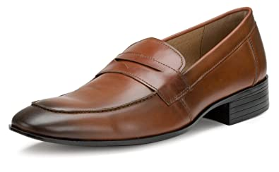 df7e80df72f31 Amazon.com   Escaro New York Formal Slip-On Penny Loafer Shoes ...