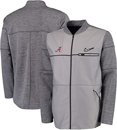 Hacia fuera diseñador aterrizaje  Amazon.com : Nike Men's Alabama Crimson Tide College Football Playoff  Sideline Hybrid Full-Zip Jacket (Small) : Clothing