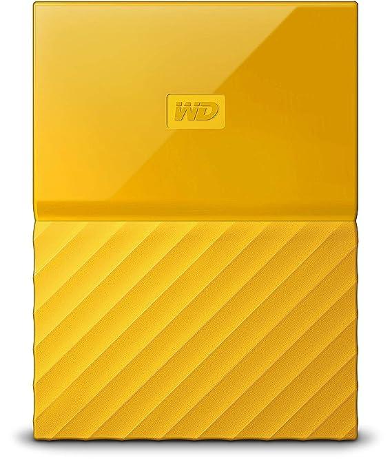 WD My Passport - Disco Duro portátil de 2 TB y Software de Copia de Seguridad automática, Amarillo: Western-Digital: Amazon.es: Informática