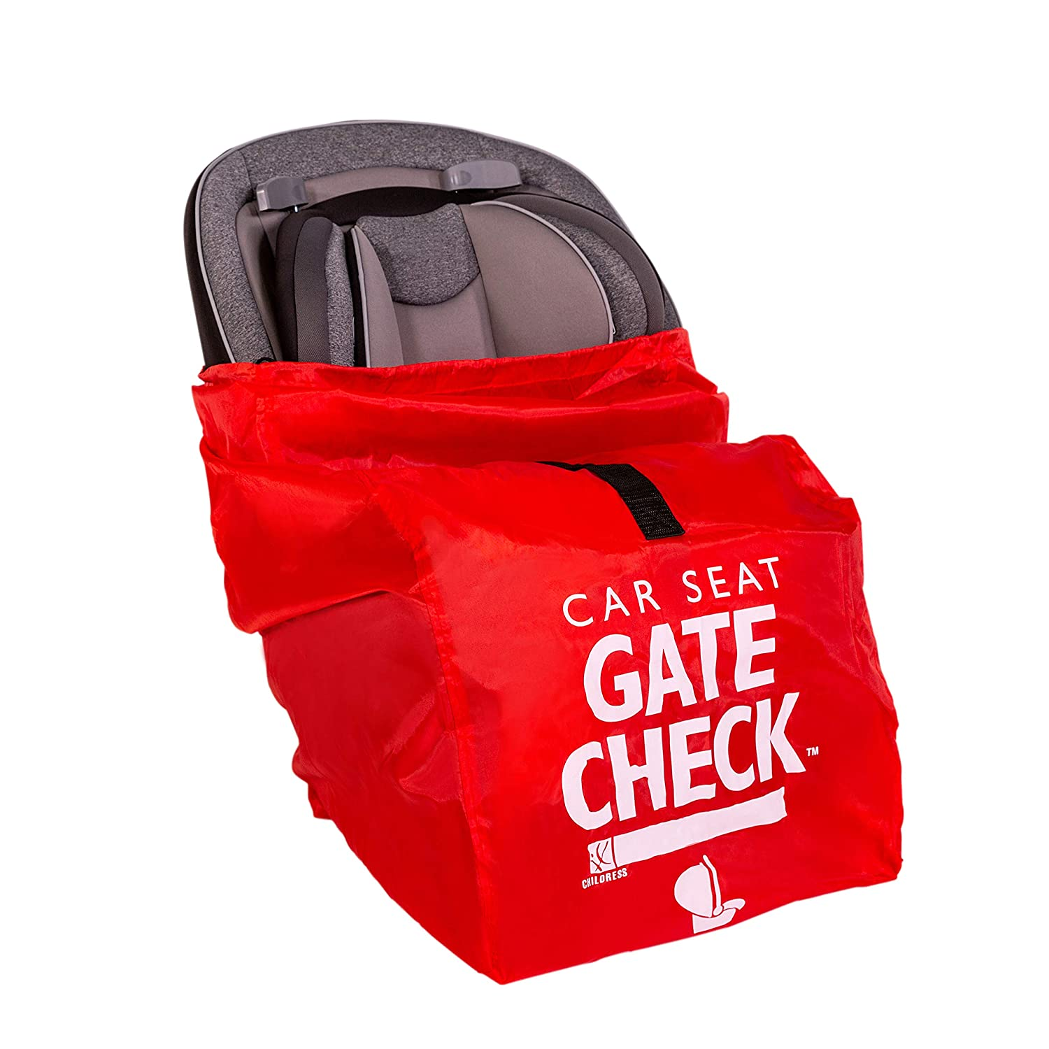 JL Childress Gate Check Bag for Car Seats for Newborn and Above Red