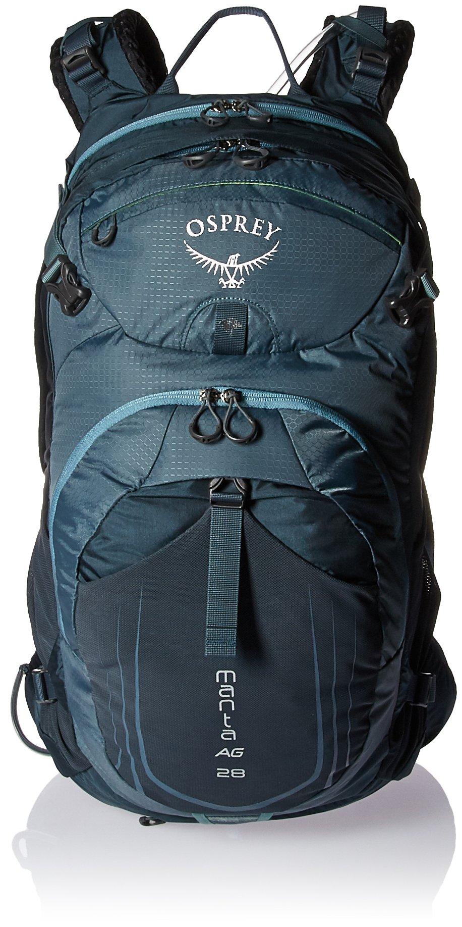Osprey Packs Manta AG 28 Hydration Pack, Fossil Grey, Medium/Large