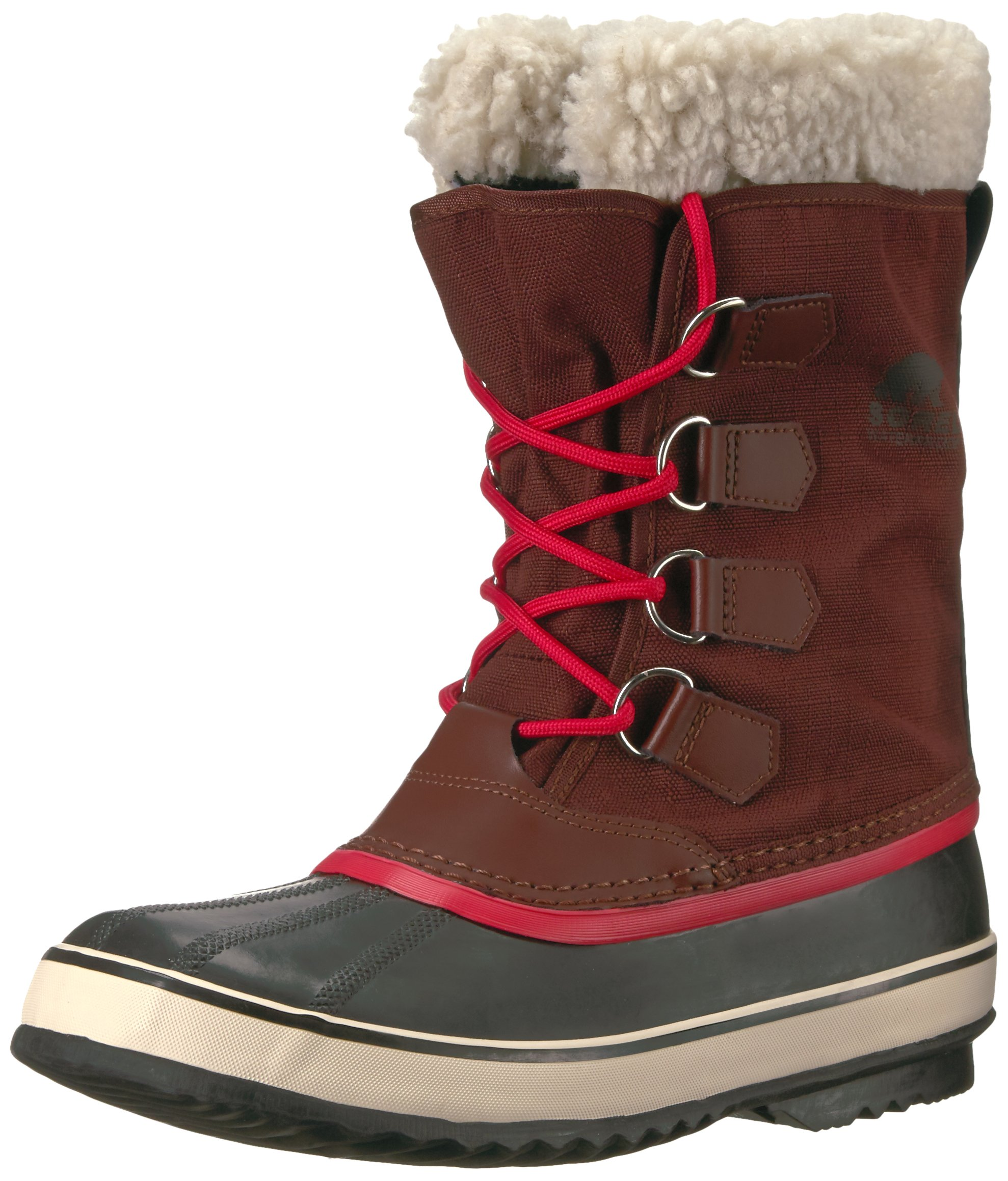 Sorel Women's Winter Carnival Snow Boot, Redwood, Candy Apple, 7 B US