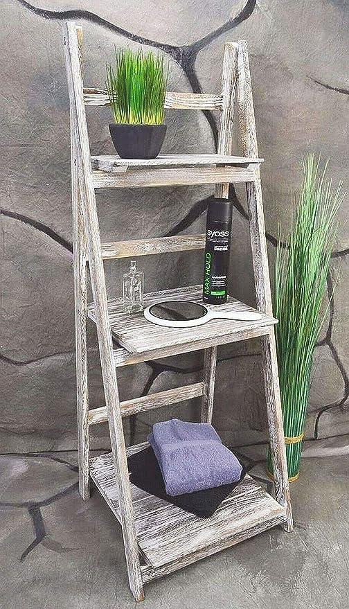 Livitat® baño Estantería Estantería Escalera de Madera Shabby Chic Color Blanco lv1011: Amazon.es: Hogar