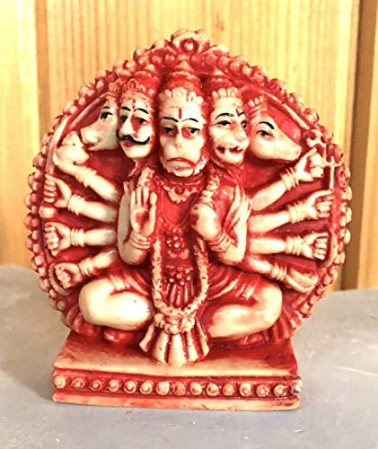 Amazon com: Sri Panchmukhi Hanuman idol - Beautifully engraved