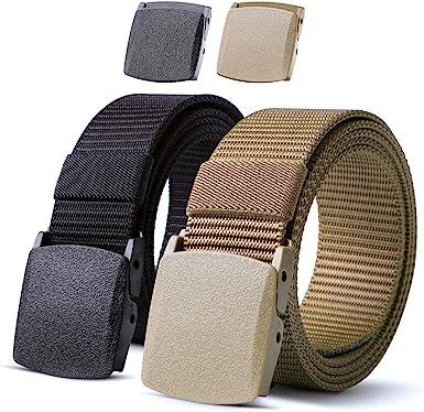 JASGOOD Nylon Canvas Breathable Military Tactical Men Waist Belt With Plastic Buckle