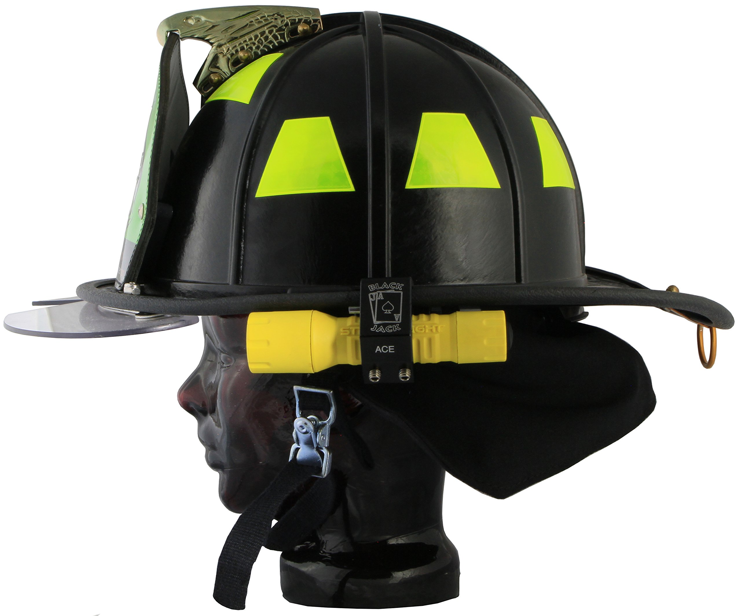 Blackjack ACE Firefighter Helmet Aluminum Flashlight Holder by Blackjack Fire & Safety (Image #7)