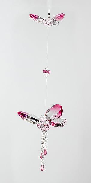 Fensterhänger Blume Acryl edle Kristall Optik Dekoration Hänger Fensterdeko
