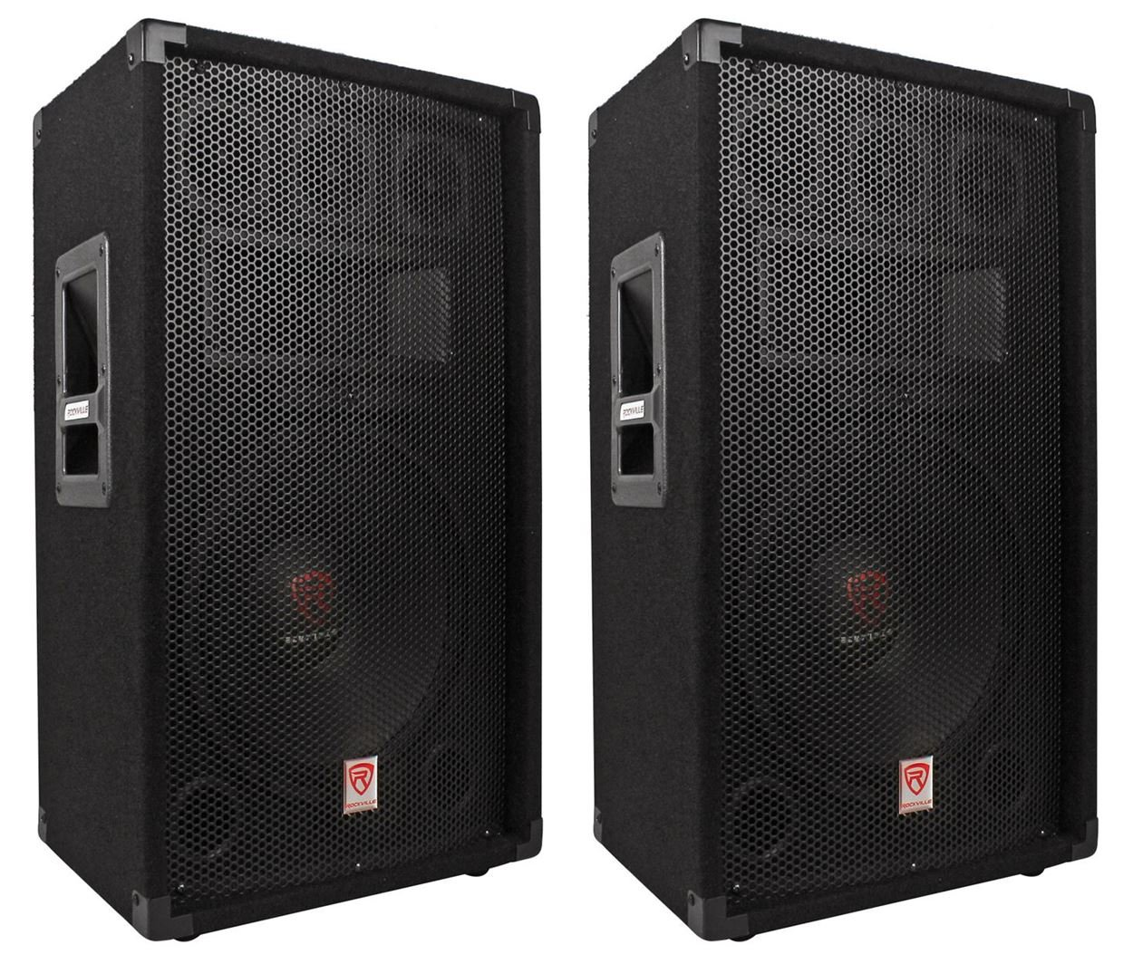 (2) Rockville RSG12.4 12 3-Way 1000 Watt 4-Ohm Passive DJ/Pro Audio PA Speakers (2) RSG12.4
