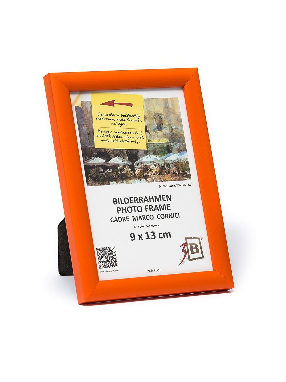 3-B Bilderrahmen Ulm 9x13 cm - orange - Holzrahmen, Fotorahmen ...