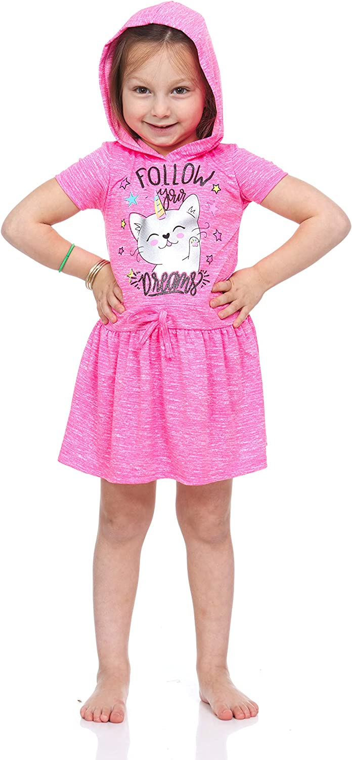 Angel Face 2 Pack Girls Active Performance Colorful Printed Glitter Cationic Dresses Toddler and Kids