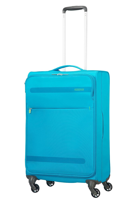 MIDNIGHT BLUE Blu M 67cm-68L American Tourister Herolite Spinner Espandibile Valigia