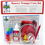 Monster Trumpet/Cornet Care and Cleaning Kit | Valve Oil, Slide Grease, and More! Everything You Need to Take Care of and Cle