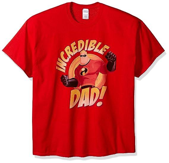 a253be052ce80 Amazon.com: Disney Men's Incredible Dad T-Shirt: Clothing