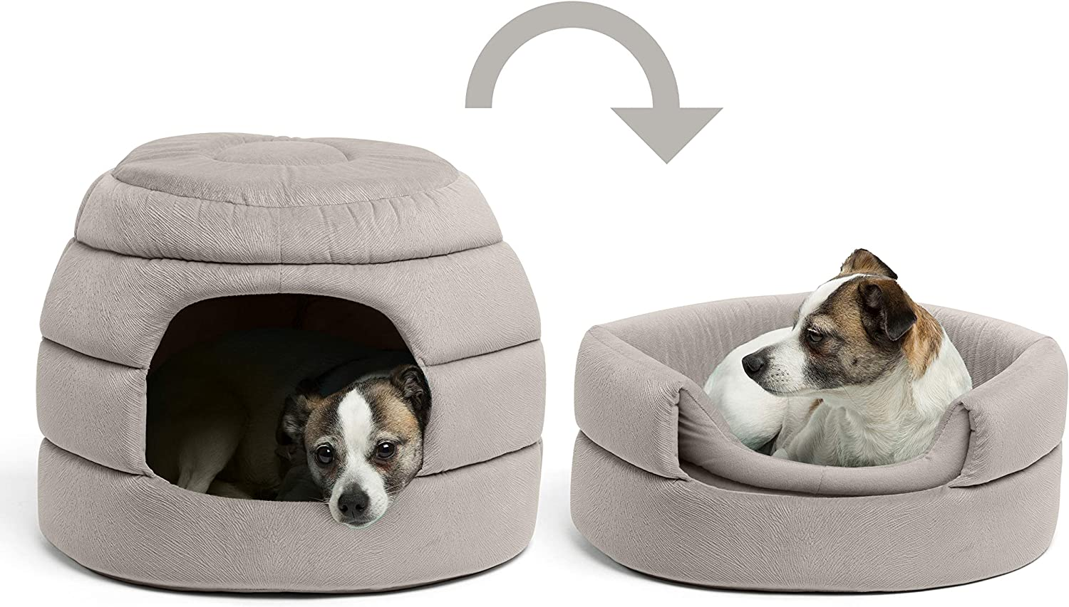 Cozy Covered Dog /& Cat Tent Great for Your Small Pet /& Puppy Removable Insert Easily Convert into Round Open Cuddler Best Friends by Sheri Convertible Honeycomb Cave Bed Machine Washable