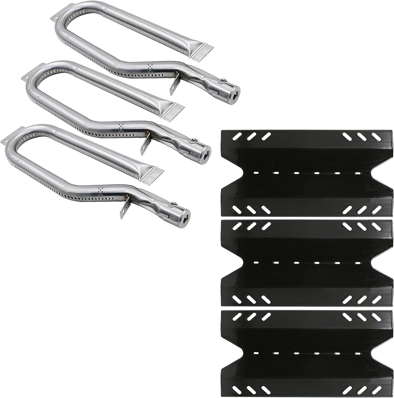 Hisencn Repair Kit for Members Mark BQ05046-6, BBQ Pro BQ05041-28, BQ51009, Sam's Club, Outdoor Gourmet BQ05037-2, BQ05046-6A Gas Grill Models, Burner Tube, Porcealain Steel Heat Plate, Burner Cover