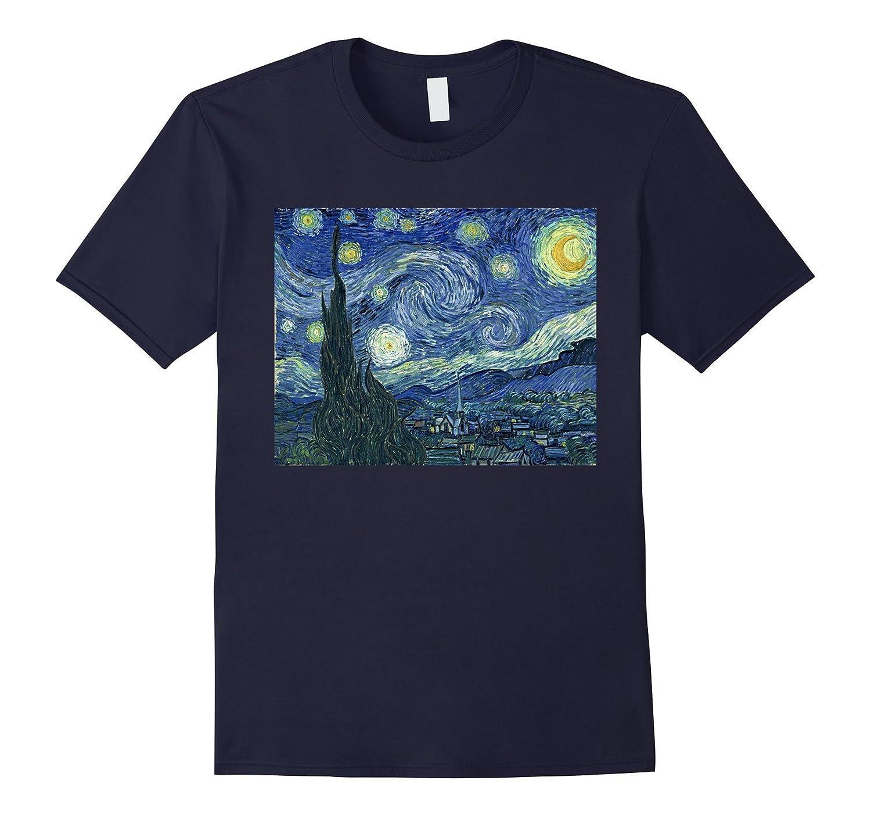 The Starry Night by Van Gogh T Shirt-BN