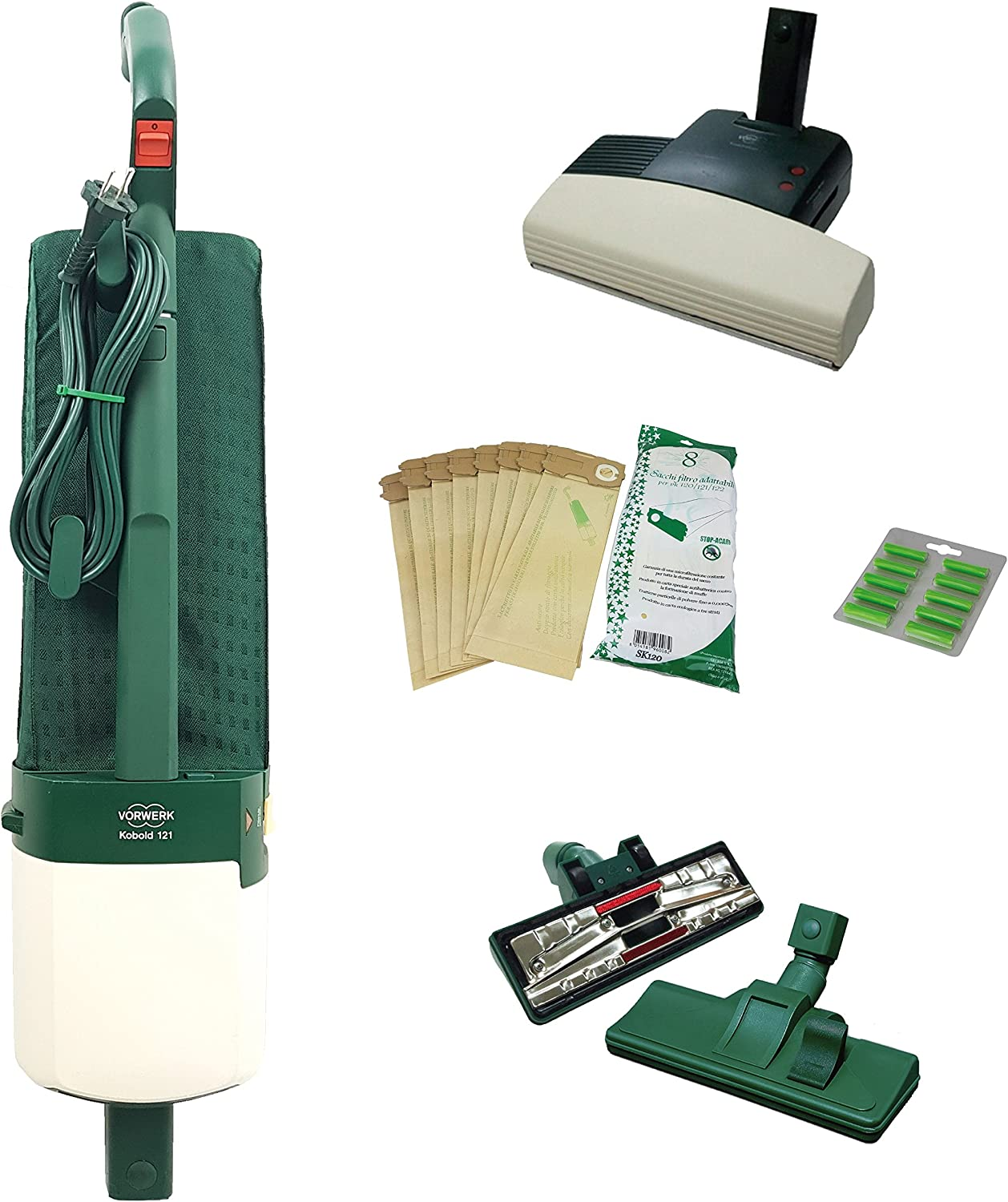 Vorwerk Folletto - Aspiradora VK121 reacondicionada - Cepillo con ...