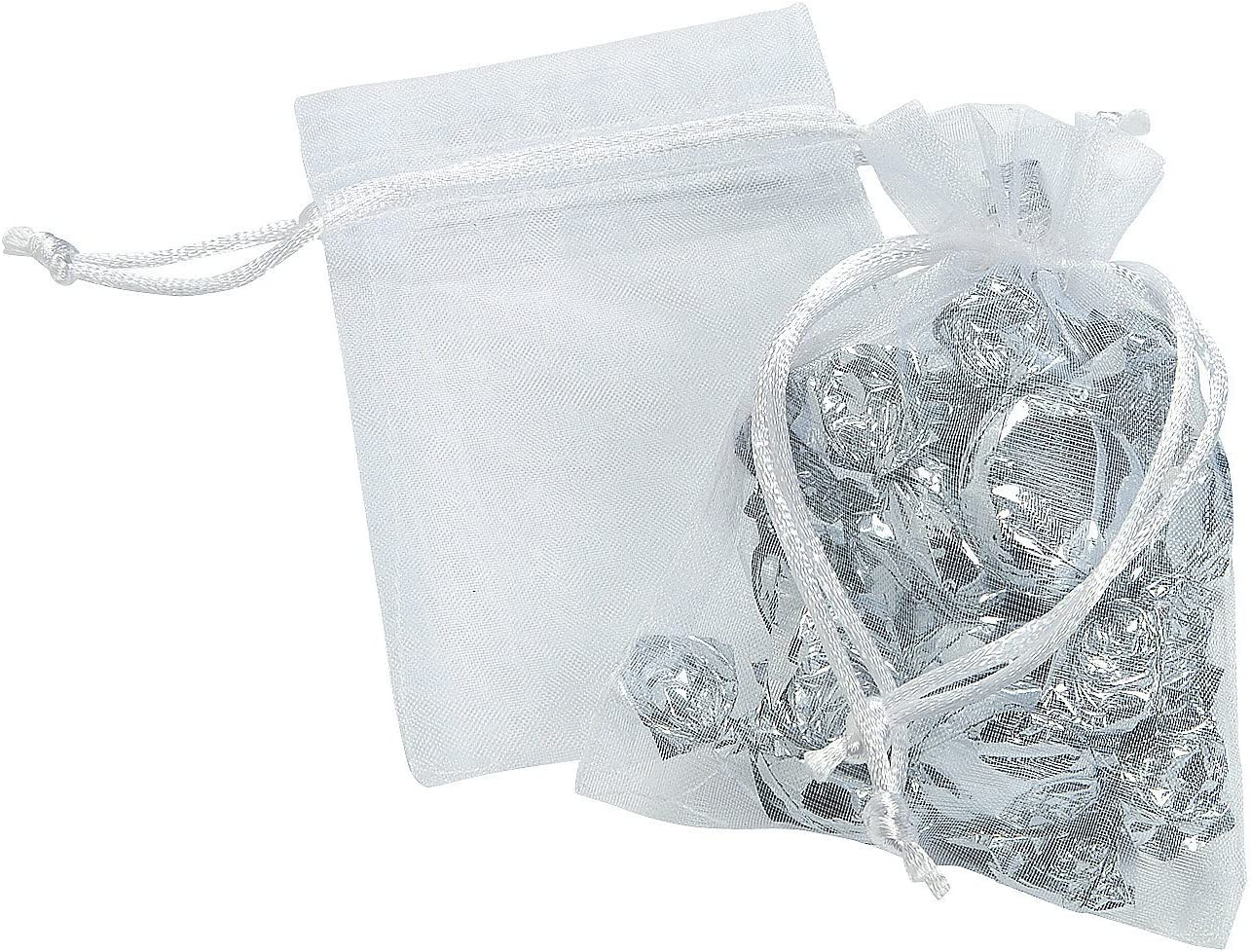Party Supplies Small Sheer Organza Wedding Gift Bags for Wedding Fabric /& Textile Bags Wedding Bags 12 Pieces Fun Express