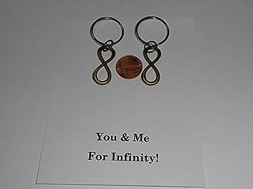 Infinito símbolo llavero para parejas (bronce) - tú y yo ...