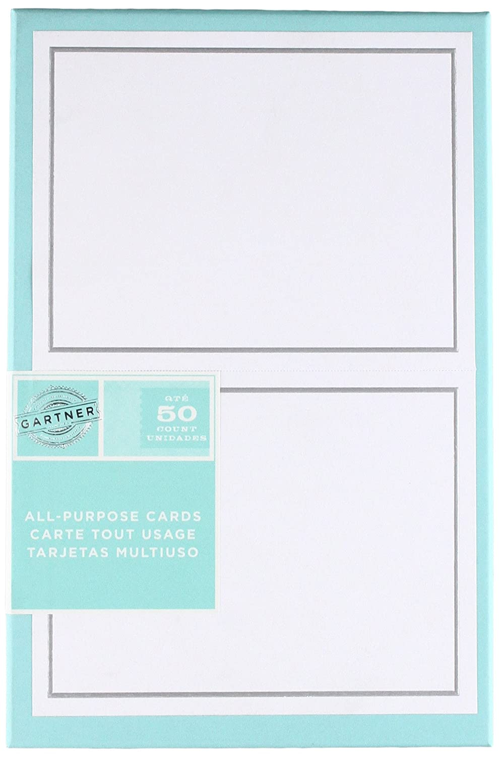 Amazon Silver Foil Border All Purpose Cards Office Products