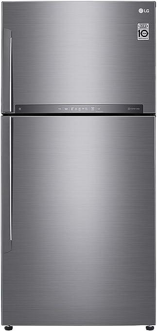 LG 630 L 3 Star   2019   Inverter Frost Free Double Door Refrigerator  GR H812HLHU, Platinum Silver 3  Refrigerators