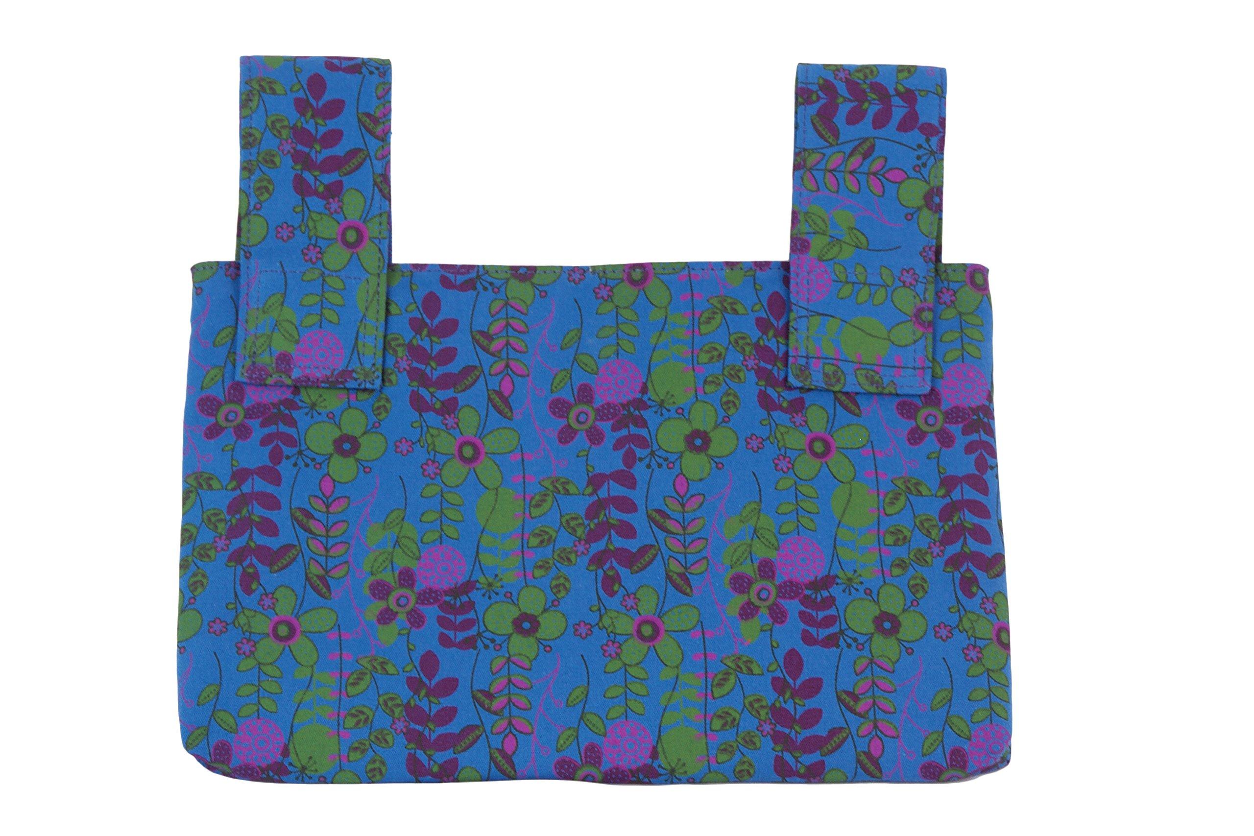 Qelse Designer Walker Bag 3-Pocket Tote Organizer Pouch BLUE Accessories for Beautiful Mobility