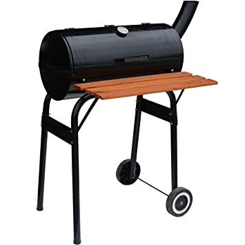 Syntrox Germany – L Smoker BBQ Barbacoa Barbacoa de carbón vegetal