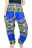 Lofbaz Pantalon Sarouel Femmes Harem Boho éléphants avec Cordon