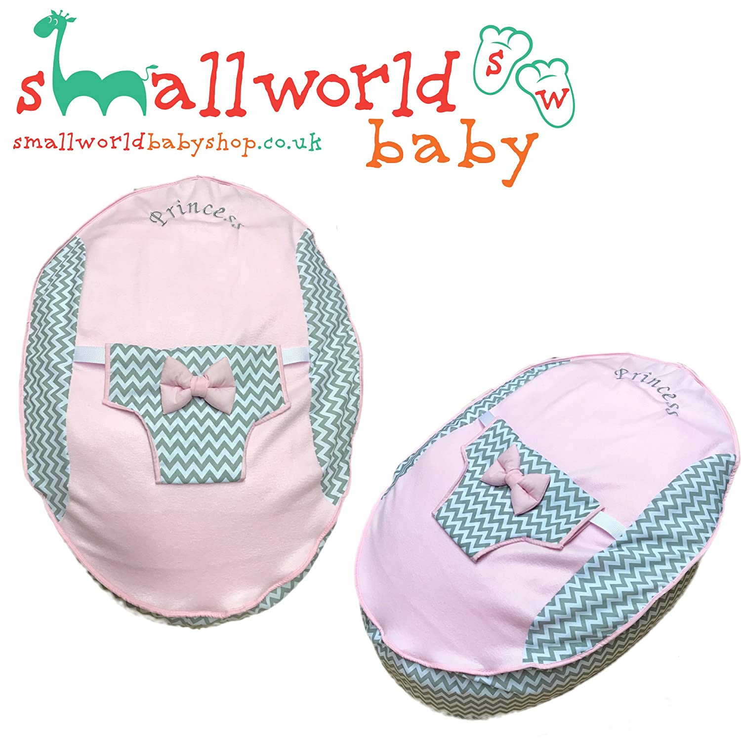PERSONALISED PRE FILLED BABY BEAN BAG CHAIR SEAT NEWBORN GIRLS NEWBORN (NEXT DAY DISPATCH) Small World Baby Shop
