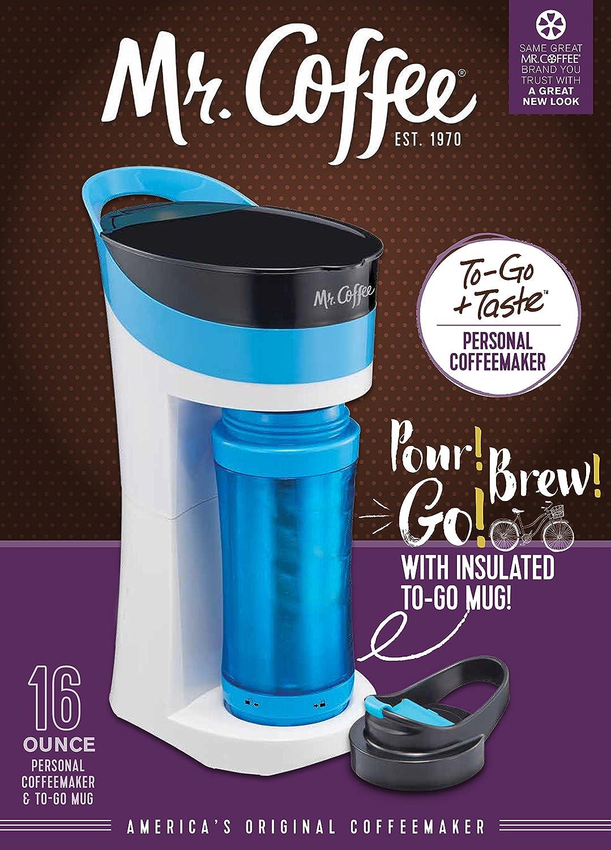 Mr. Coffee Pour! Brew! Go! Personal Coffee Maker, Caffeine Blue ;;;
