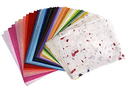 Amazon Com Mulberry Paper 9 X 12 Inch 75 Color For Kids Art And