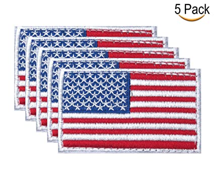 Tactical USA Flag Patches Military American Patch Morale 5 Pieces for The  Hats Bags Backpacks and 4db83f9a812