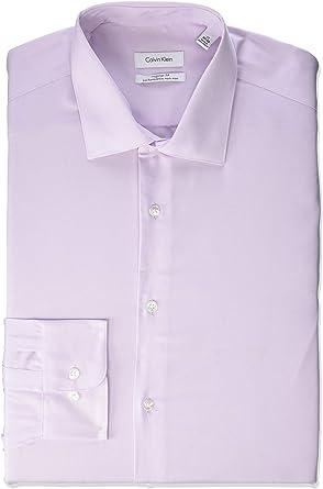 Calvin Klein camisa para hombre, sin planchado, con botones, color morado 18: Amazon.es: Ropa y accesorios