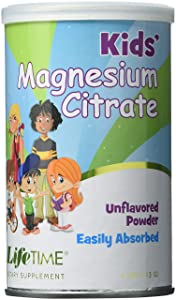 Lifetime Magnesium Citrate for Kids Fine Powder Can 200 Mg, 4 Fluid Ounce