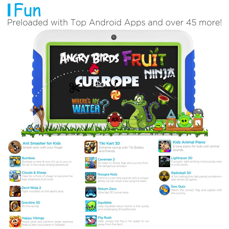 Ematic FunTab 4GB Azul, Verde, Color Blanco - Tablet (1,2 ...
