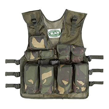 69a406e3e39ce Kids Army Camouflage Assault Vest - Fits Ages 5-14: KAS: Amazon.co.uk:  Sports & Outdoors