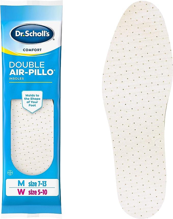 Scholls Double Air Pillo Shoe Gel Insoles Men 7-13 Women 5-10 New Universal Dr
