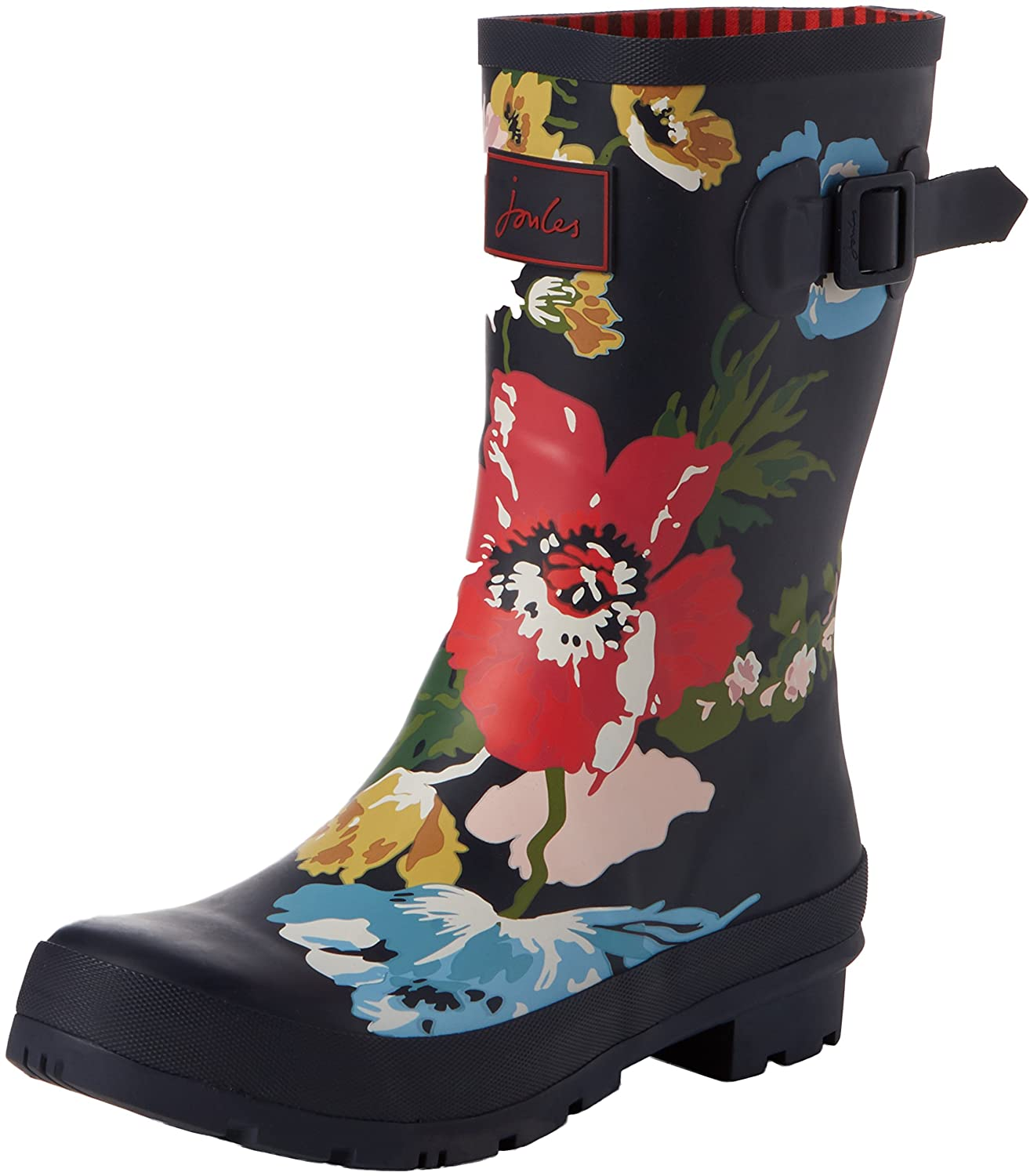 Joules Women's Molly Welly Rain Boot B06XGMGRLC 9 B(M) US|French Navy Posy