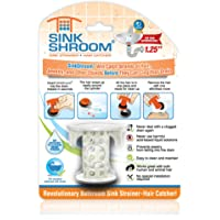 SinkShroom The Revolutionary Sink Drain Protector Hair Catcher/Strainer/Snare, White
