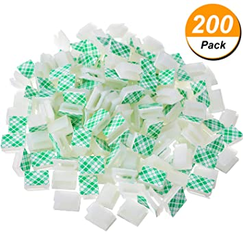 200 Stück Weiß Draht Klebstoff Kabel Clips Auto Kabelbinder Kabel ...