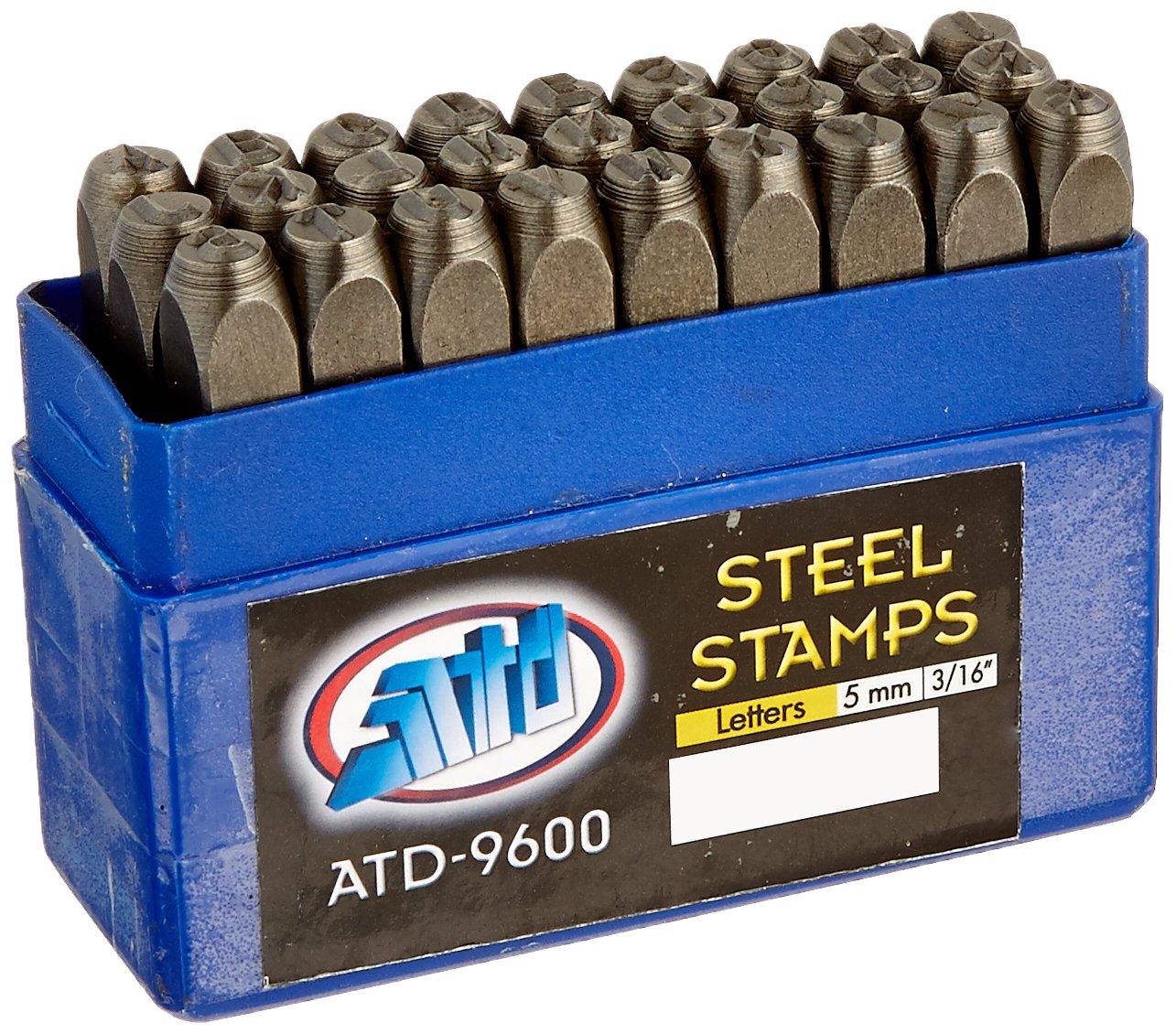 Advanced Tool Design Model ATD-9600 27 Piece 3/16'' Steel Letter Stamp Set