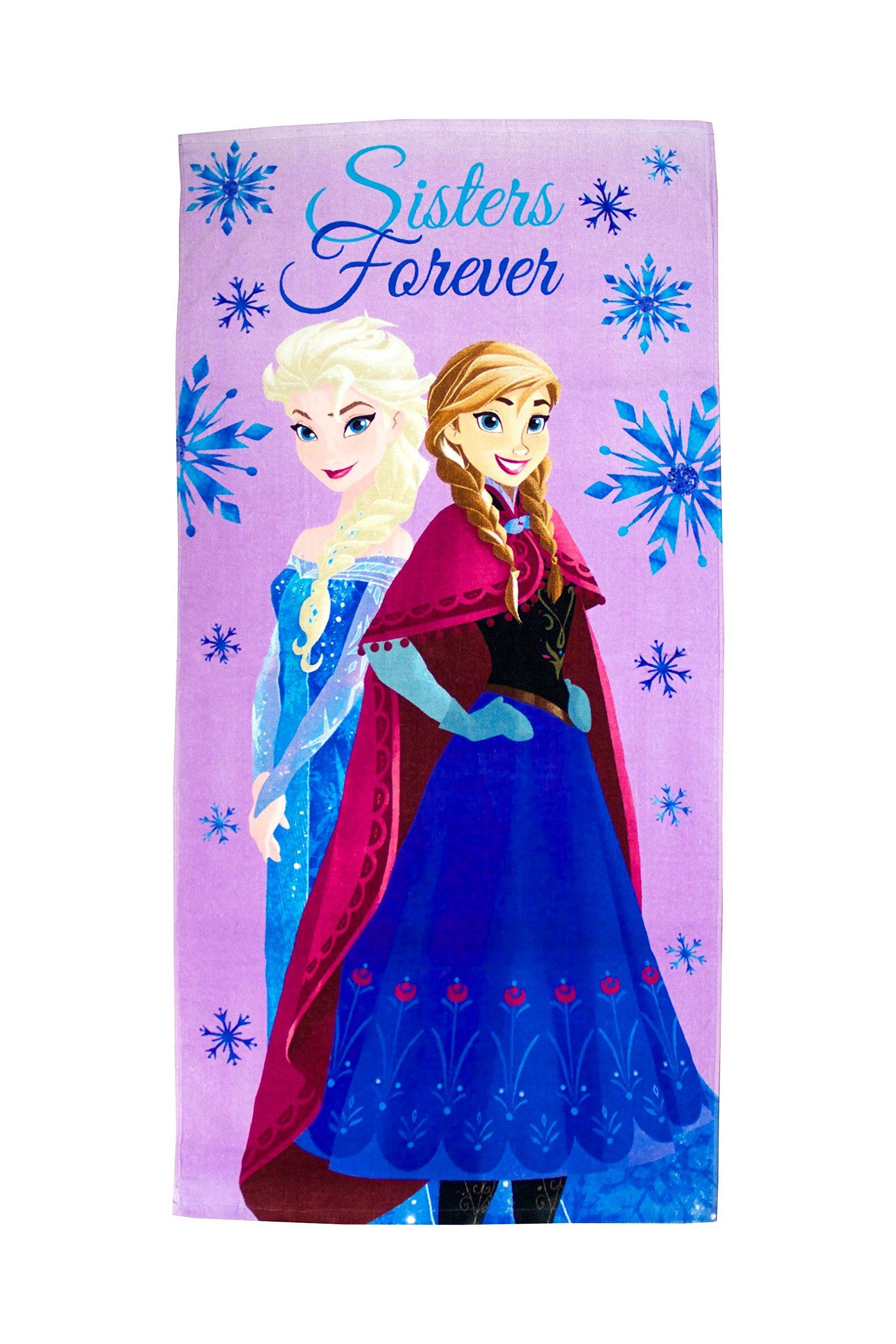Disney Frozen Crystal Snowflakes 100% Cotton 28'' X 58'' Plush Beach/Bath/Pool Towel