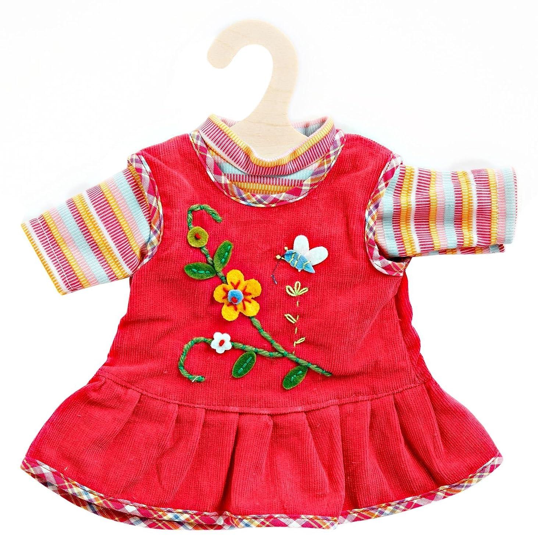 Gr/ö/ße 28-33 cm Heless 1510 Peppiges Puppenkleid mit T-Shirt